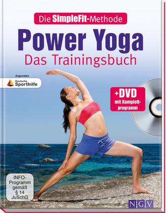 "Cover des Buches ""Die SimpleFit-Methode - Power Yoga - Das Trainingsbuch"""