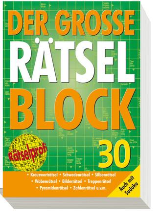 "Cover des Buches ""Der große Rätselblock 30"""