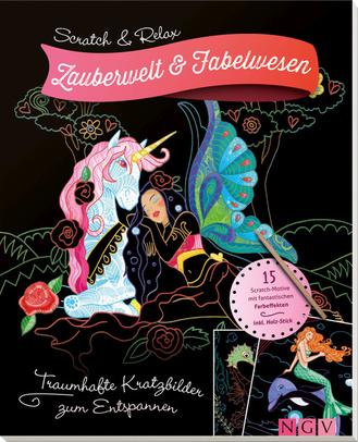"""Cover des Buches """"Scratch & Relax - Zauberwelt und Fabelwesen"""""""