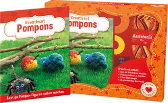 "Cover des Buches ""Kreativset Pompons - Lustige Pompon-Figuren selber machen"""