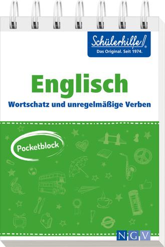 """Cover des Buches """"Pocketblock Englisch - Wortschatz und unregelmäßige Verben"""""""