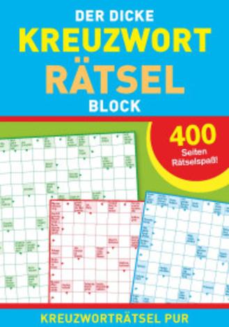 "Cover des Buches ""Der dicke Kreuzworträtselblock"""