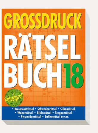 "Cover des Buches ""Großdruck-Rätselbuch 18"""